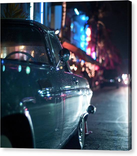 Ocean Drive, Miami Canvas Print