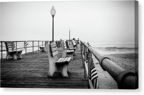 Canvas Print featuring the photograph Ocean Grove Pier 2 by Steve Stanger