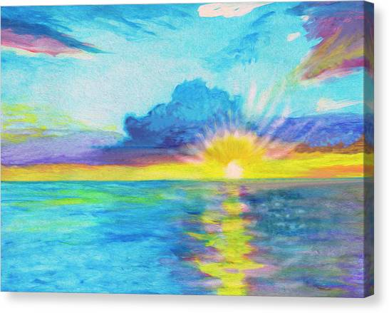 Ocean In The Morning Canvas Print