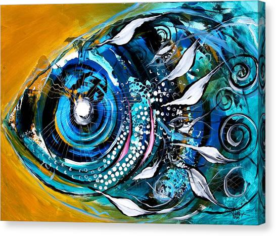 Ochre Fish Four Canvas Print