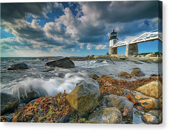 Canvas Print featuring the photograph October Morning At Marshall Point by Rick Berk