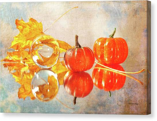Canvas Print featuring the photograph October Reflections by Randi Grace Nilsberg