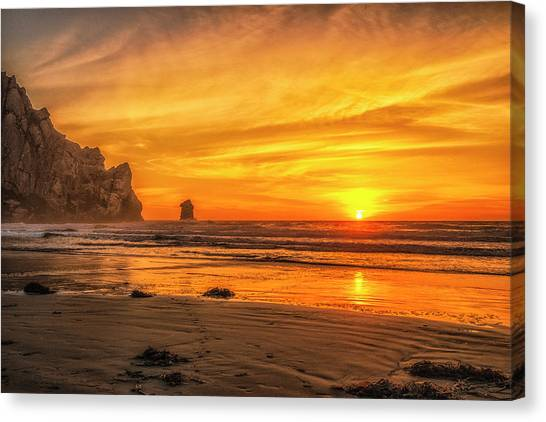 October Sunset Canvas Print by Fernando Margolles
