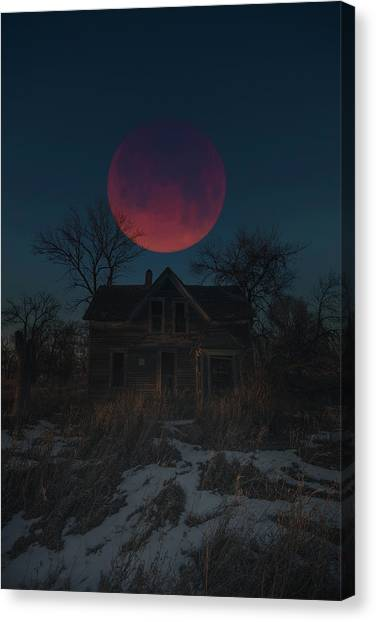 Canvas Print featuring the photograph Of Wolf And Man  by Aaron J Groen