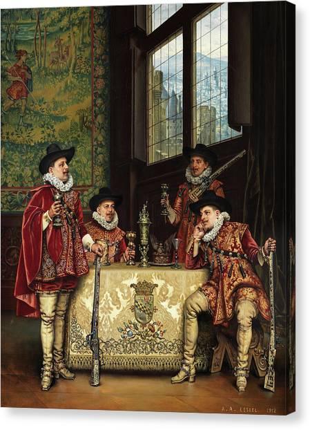 Royal Guard Canvas Print - Off Duty by Adolphe Alexandre Lesrel