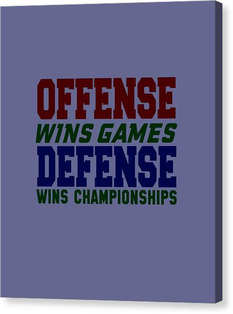 Offence Defense Canvas Print