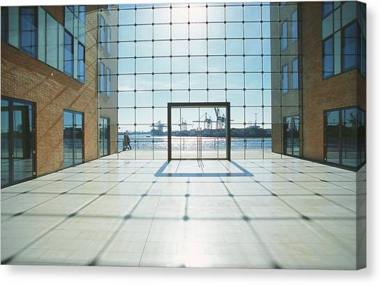 Office Building At Holzhafen 45, Grosse Canvas Print by Uwe Steffens