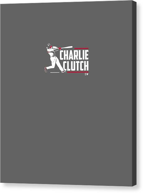 T Shirts Canvas Print - Officially Licensed Charlie Culberson Shirt - Charlie Clutch by Unique Tees
