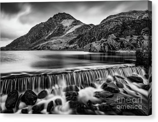 Tryfan Mountain Canvas Print - Ogwen Weir Snowdonia by Adrian Evans
