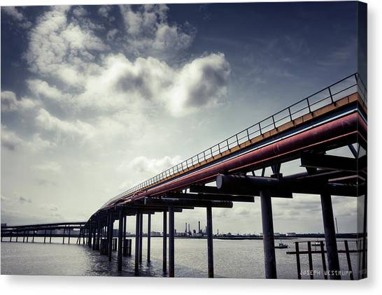 Oil Bridge Canvas Print