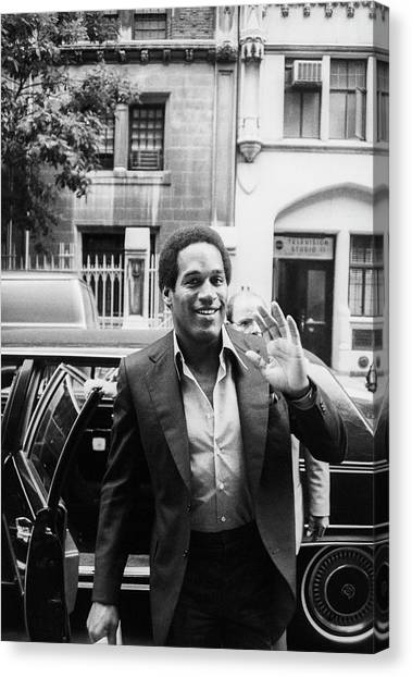 O.j. Simpson Canvas Print by Art Zelin