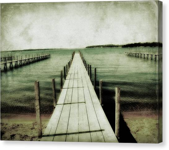 Okoboji Docks Canvas Print