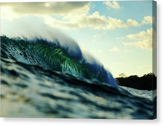 Canvas Print featuring the photograph ola Verde by Nik West
