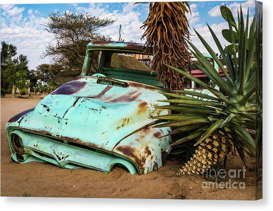 Old And Abandoned Car 2 In Solitaire, Namibia Canvas Print