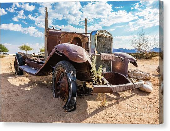 Old And Abandoned Car 3 In Solitaire, Namibia Canvas Print