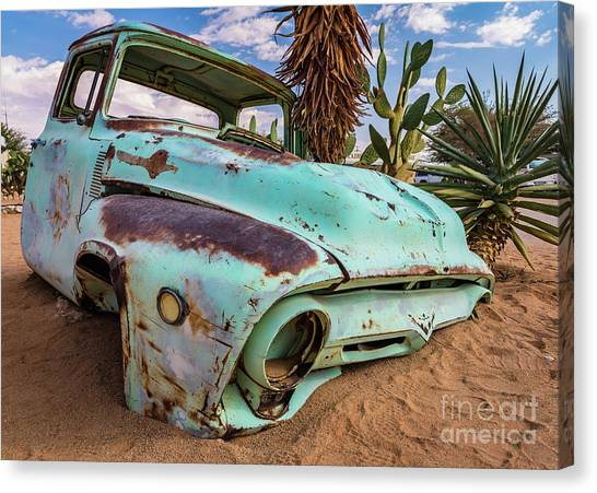 Old And Abandoned Car 7 In Solitaire, Namibia Canvas Print