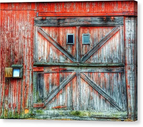 Old Barn Door Canvas Print by Jenny Lauretano / Eyeem