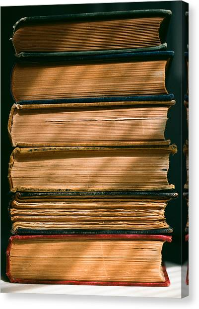 Canvas Print featuring the photograph Old Books by Carl Young