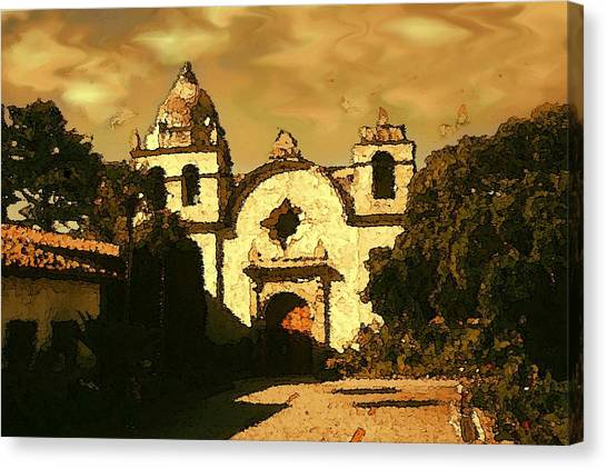 Old Carmel Mission - Watercolor Painting Canvas Print
