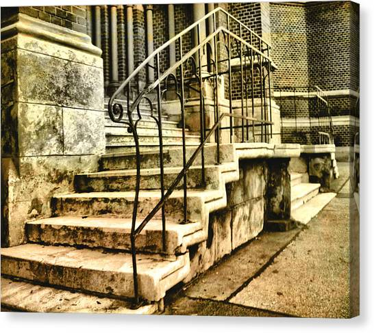 Old Church Entrance In Vienna Canvas Print
