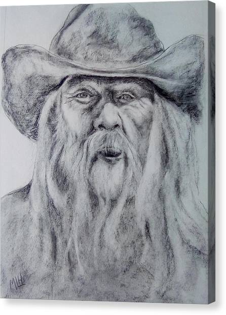 Old Man In A Hat  Canvas Print