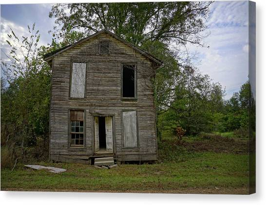 Old Masonic Lodge In Ruins Canvas Print
