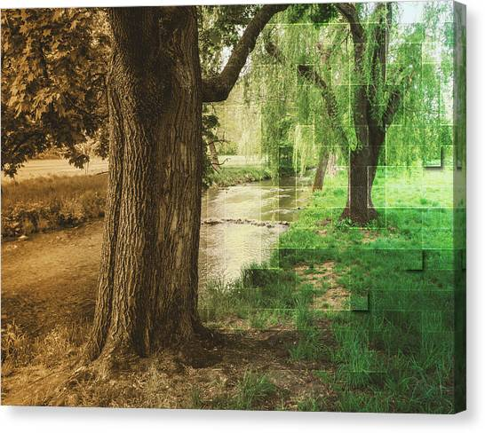 Old Meets New Canvas Print