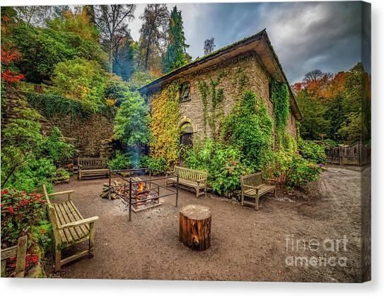 Canvas Print - Old Mill Autumn by Adrian Evans