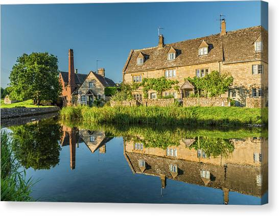 Old Mill, Lower Slaughter, Gloucestershire Canvas Print by David Ross