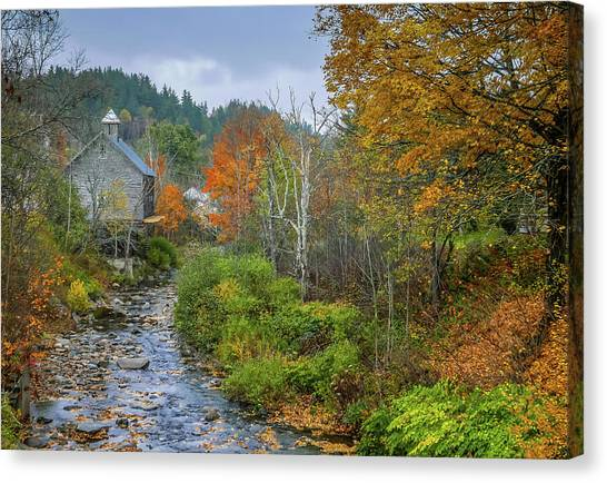 Old Mill New England Canvas Print