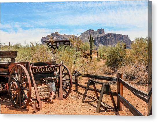 Canvas Print featuring the photograph Old Mining Days 1 by Dawn Richards