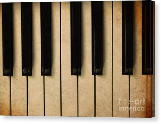 Sheet Music Canvas Print - Old Piano Vintage Background by Midiwaves