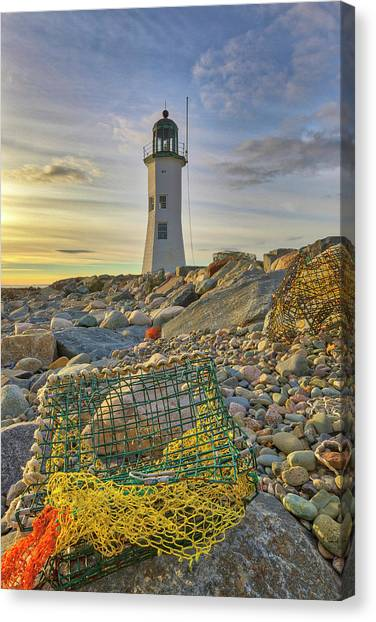 Canvas Print featuring the photograph Old Scituate Lighthouse by Juergen Roth