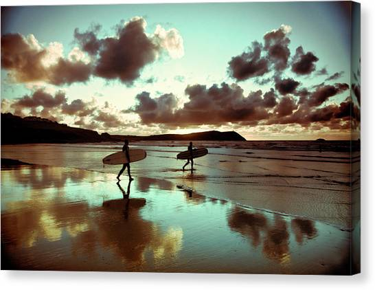 Old Skool Surf Canvas Print by Landscapes, Seascapes, Jewellery & Action Photographer