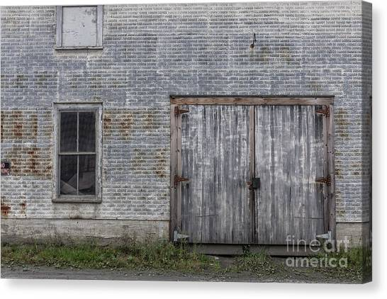 Warehouses Canvas Print - Old Trackside Warehouse by Edward Fielding