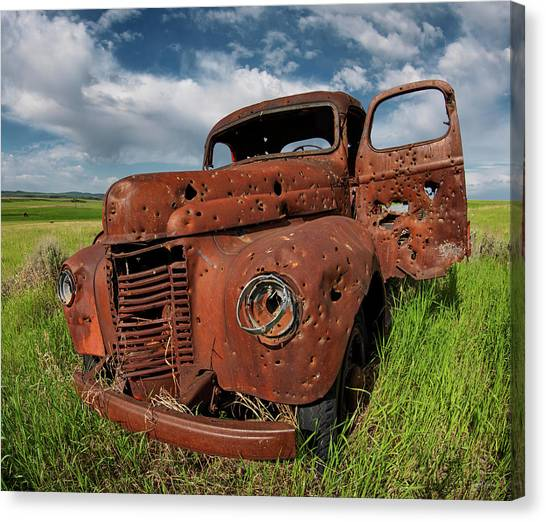 Old Truck Canvas Print by Leland D Howard