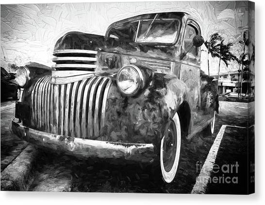 Rusty Truck Canvas Print - Old Truck  - Painterly by Les Palenik