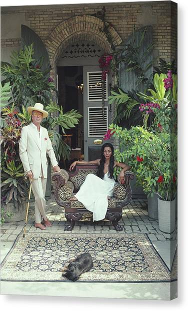 Olivier Coquelin Canvas Print by Slim Aarons