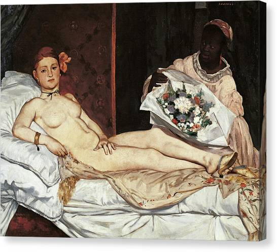Olympia, By Edouard Manet, 1863, 19th Canvas Print
