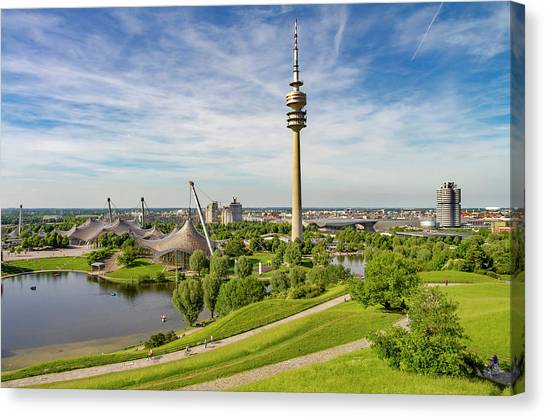 1972 Canvas Print - Olympic Park, Munich by Smart Aviation
