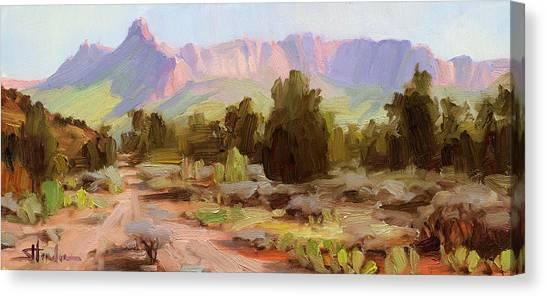 Arid Canvas Print - On The Chinle Trail by Steve Henderson