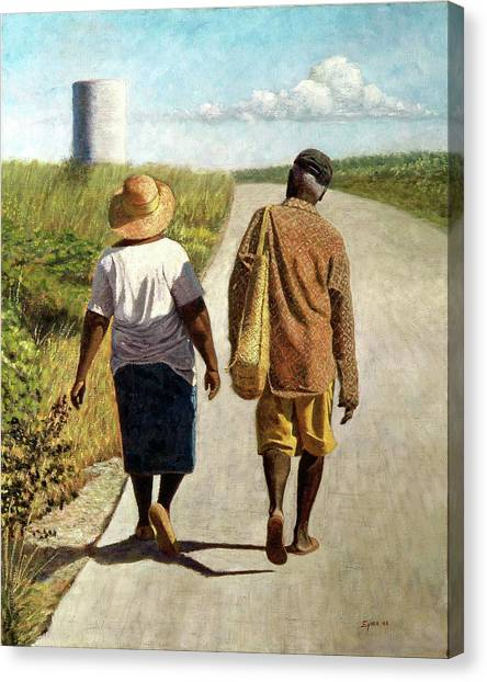 On The Road To Hatchet Bay Canvas Print