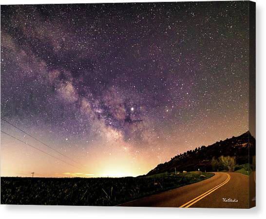 On The Road To The Milky Way Canvas Print
