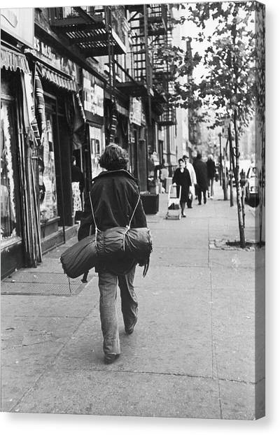 Clothing Store Canvas Print - On The Streets Of The East Village, 1967 by Fred W. McDarrah