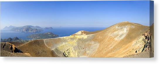 On The Top Of Volcano Canvas Print by Maremagnum