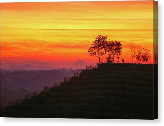 Canvas Print featuring the photograph On The Viewpoint by Davor Zerjav