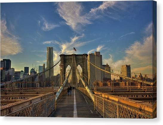 On The Way To Manhattan Canvas Print