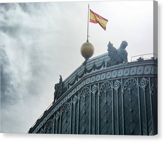 On Top Of The Puerta De Atocha Railway Station Canvas Print