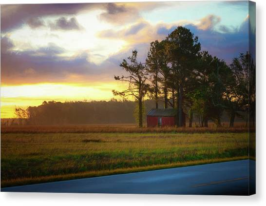 Onc Open Road Sunrise Canvas Print