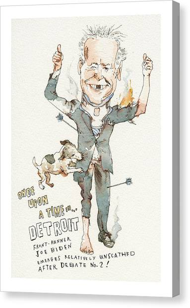 Once Upon A Time . . . In Detroit Canvas Print by Barry Blitt